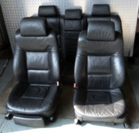 BMW E39 5er Limousine Ledersitze schwarz
