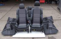 BMW 5er Touring E61 Sportsitze Teilleder grau schwarz